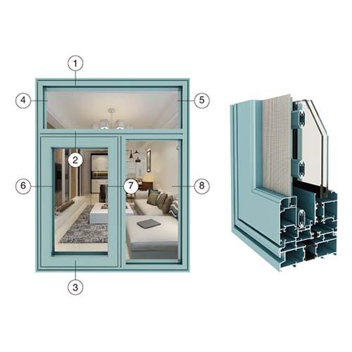 YH110窗纱一体系列